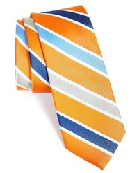 Como stripe woven silk tie medium 243650