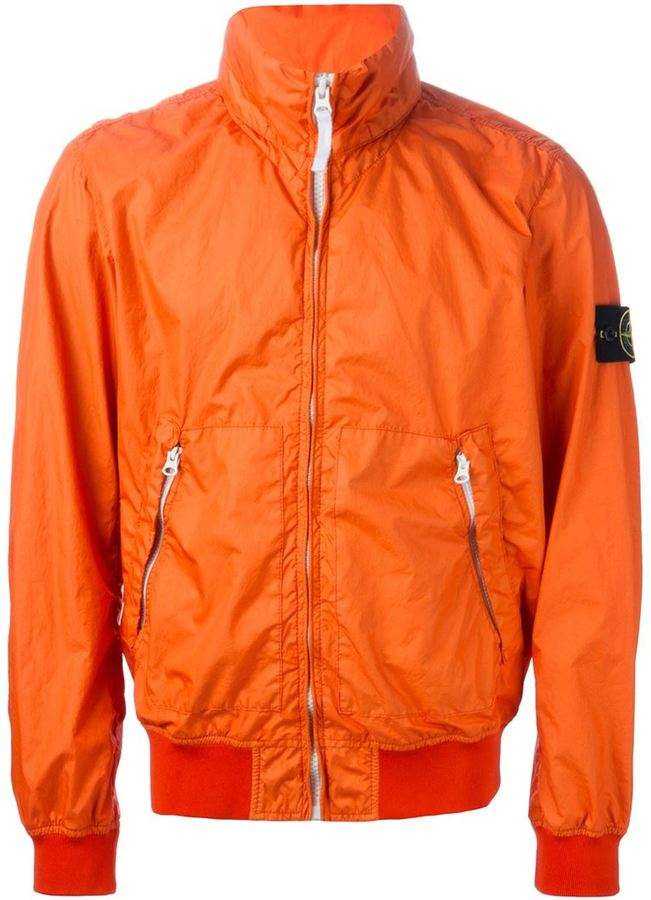 Orange Windbreaker Jacket - JacketIn