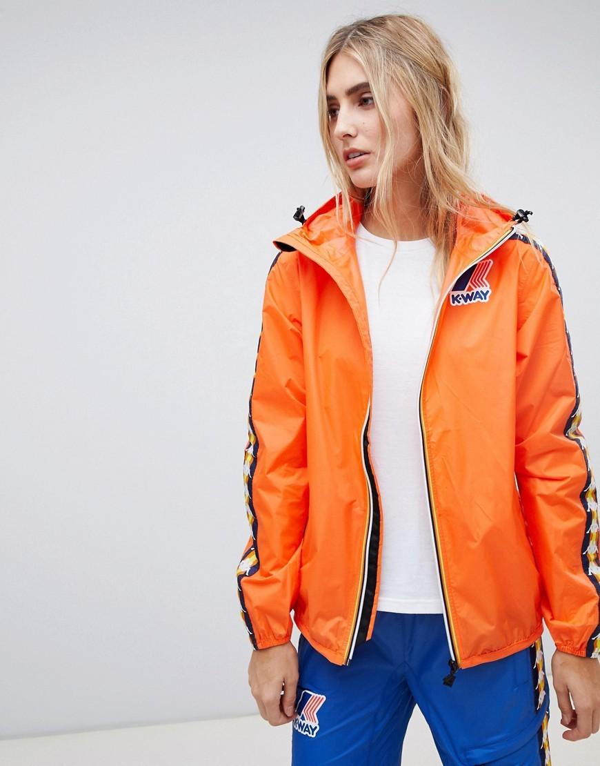 uk cheap sale presenting special sales X Kappa Zip Through Rain Jacket Flame