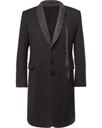 Pair a dark grey rollneck with an overcoat to look classy but not particularly formal.