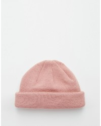 Brand mini fisherman beanie in pink medium 600481