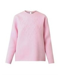Pink Cable Sweater