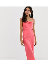 Miss Selfridge Cami Slip Dress In Pink