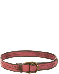 Pink Canvas Belt