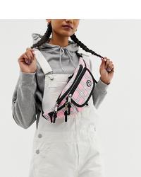 Hype Pink Check Bum Bag
