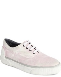 Pink Canvas Low Top Sneakers