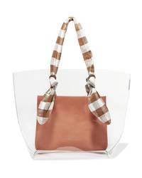 Loeffler Randall Lydia Pvc Leather And Gingham Canvas Tote