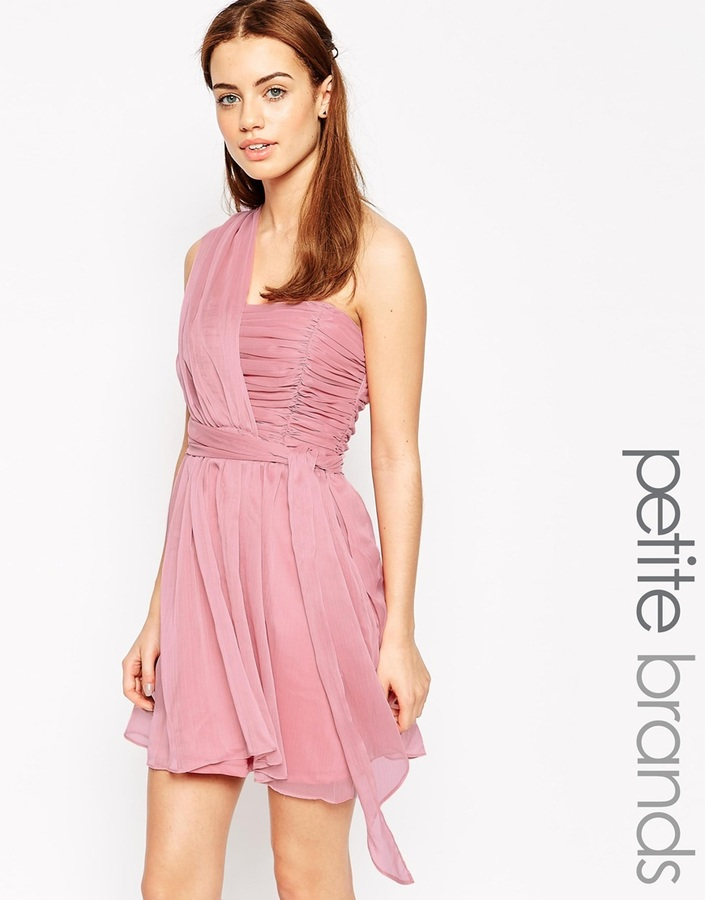 True Decadence Petite One Shoulder Soft Prom Dress   Where to buy ...