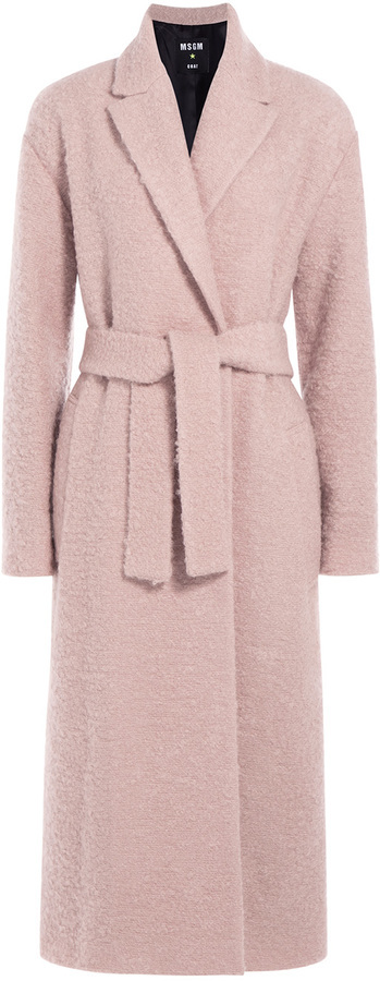 MSGM Textured Wool Mohair Coat   Where to buy & how to wear