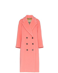Burberry Walsingham Double Breasted Virgin Wool Cashmere Blend Coat