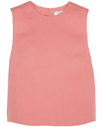 Valentino Cropped Linen Top