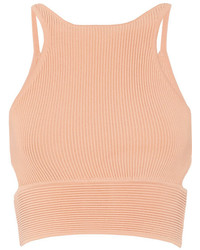 Cropped Ribbed Knit Top Jonathan Simkhai