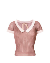 N°21 N21 Cropped Ribbed T Shirt