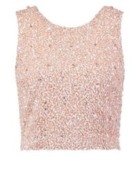 Lace & Beads Picasso Vest Pink