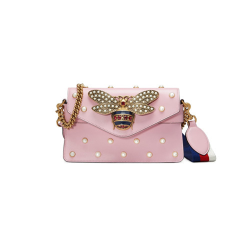 c217b4e3f64 ... Embellished Leather Crossbody Bags Gucci Broadway Leather Mini Bag ...