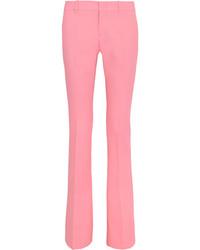 Gucci Stretch Wool Bootcut Pants Pastel Pink