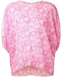 Pink Floral Crew-neck T-shirt