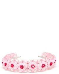 Simone rocha beaded floral headband medium 96467