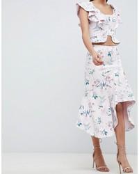 Forever New Draped Floral Midi Skirt