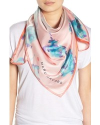 Marc Jacobs Floral Print Silk Brocade Scarf
