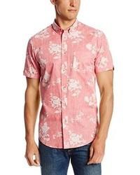 Pink Floral Short Sleeve Shirt
