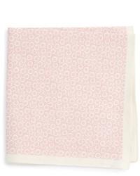 Ted Baker London Floral Print Cotton Silk Pocket Square