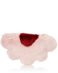 Pink Fur Clutch
