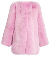 Gucci Collarless Fur Coat