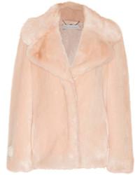 Stella McCartney Faux Fur Coat Blush