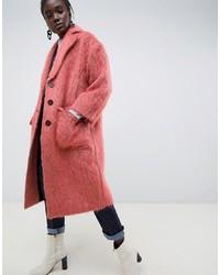 ASOS WHITE Mohair Duster Coat