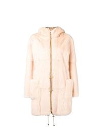 Liska Pallas Hooded Fur Coat