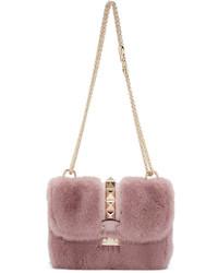Pink Fur Crossbody Bag