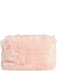 Faux Fur Clutch Black