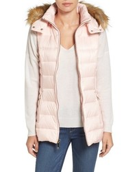 Kate Spade New York Down Vest With Faux Fur Trim
