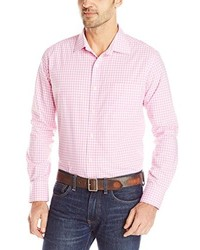 Pink Gingham Long Sleeve Shirt