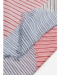 Pink Horizontal Striped Scarf