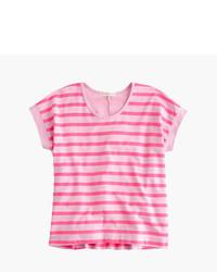 J.Crew Girls Swingy Wide Striped T Shirt