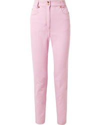 Versace High Rise Slim Leg Jeans