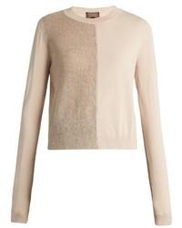 Giambattista Valli Mohair And Wool Blend Contrast Knit Sweater