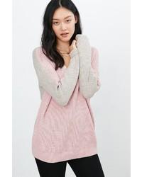 BDG Billie Colorblock V Neck Sweater