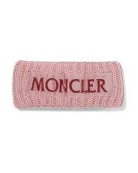 Moncler Flocked Med Ribbed Wool Headband