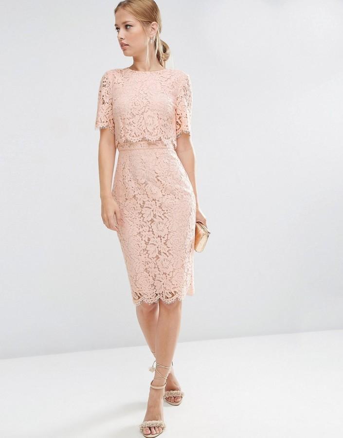 61b7d8e883903 ... Asos Lace Crop Top Midi Pencil Dress ...