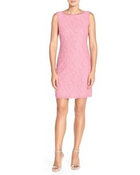 Pink Lace Sheath Dress
