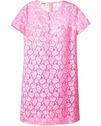 Pink Lace Shift Dress