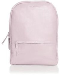 Pink Leather Backpack