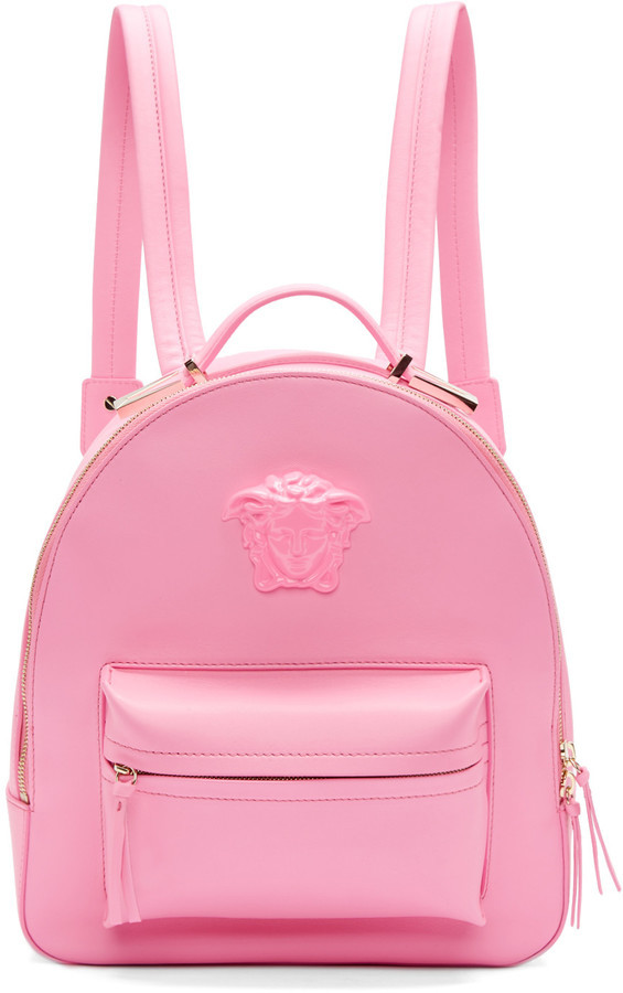 5671994d81 Versace Versace Pink Leather Medusa Backpack
