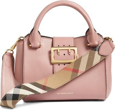 804822915822 ... Burberry Small Buckle Leather Satchel ...
