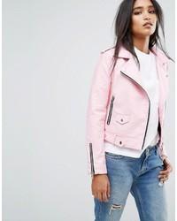 Mango Faux Leather Biker Jacket