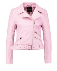 Faux leather jacket light pink medium 3993132
