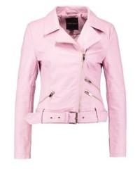 Faux leather jacket light pink medium 3993132
